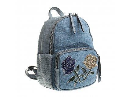 Dámský kožený batůžek 7260 modrý Alpini (3)