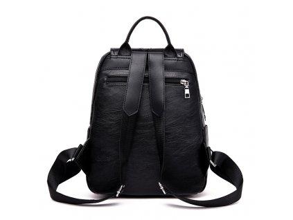 Dámský městský kožený batůžek Gil Bags 2024 černý ModexaStyl (3)