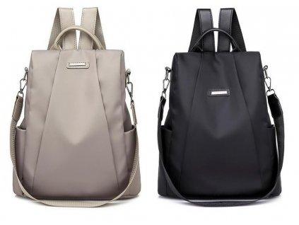 Dámský batůžek a kabelka 2v1 černý a šedý Gil Bags 2038 ModexaStyl (2)