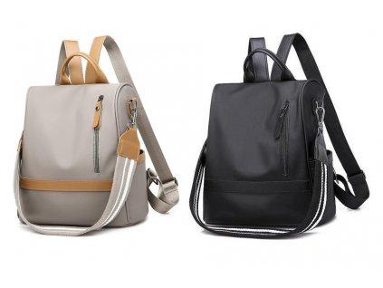 Dámský batůžek a kabelka 2v1 šedý a černý Gil Bags 2035 ModexaStyl (2)