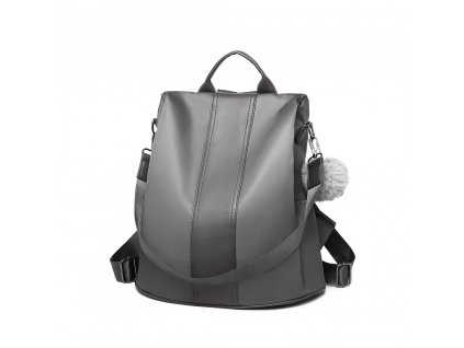 Dámský batůžek a kabelka 2v1 Miss Lulu šedý LG1903 GY ModexaStyl (3)