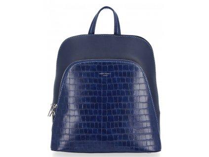 Dámský kožený batůžek David Jones 5615 modrý ModexaStyl.jpg (6)