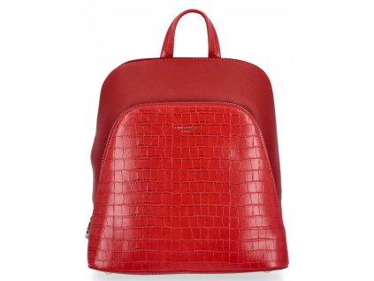 Dámský kožený batůžek David Jones 5615 červený ModexaStyl (6)