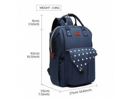 Mateřský přebalovací batoh na kočárek E1945 NY modrý KONO (1)