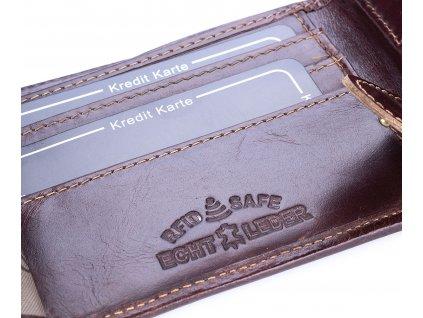 Pánská kožená peněženka Wild 5504 hnědá ModexaStyl (10)