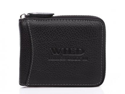 Pánská kožená peněženka na zip Wild 5267 černá ModexaStyl (2)