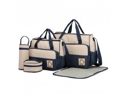 Sada mateřských tašek Miss Lulu modrá 9026 ModexaStyl (2)