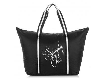 Velká plážová taška Simply Chic 2209 Jennifer Jones černá ModexaStyl (1)