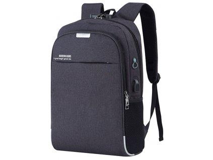 Business městský unisex batoh USB černý GIL Bags 4007 ModexaStyl (2)
