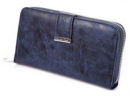 Velká dámská peněženka na zip Jennifer Jones11040 7 modrá navy ModexaStyl (61)