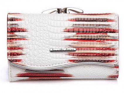 Dámská kožená peněženka Jennifer Jones 5245 bílo červená (2)