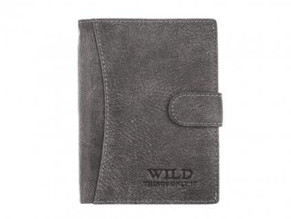 Pánská kožená peněženka šedá Wild 5502 Modexa (2)