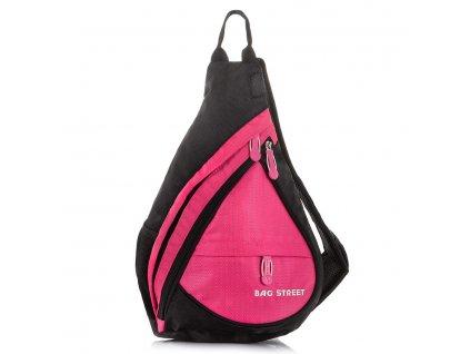 Lehký sportovní batůžek přes jedno rameno Bag Street 4388 růžový ModexaStyl (2)