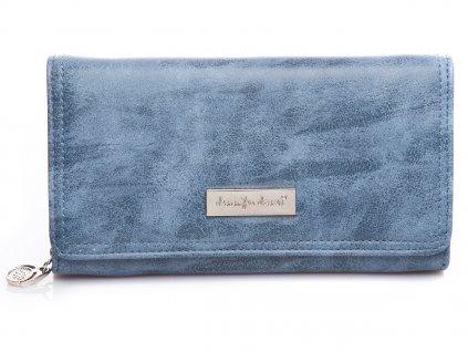 Elegantní dámská kožená peněženka Jennifer Jones 1108 7 modrá světle ModexaStyl (4)