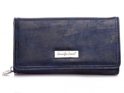 Elegantní dámská kožená peněženka Jennifer Jones 1108 7 modrá tmavě ModexaStyl (2)