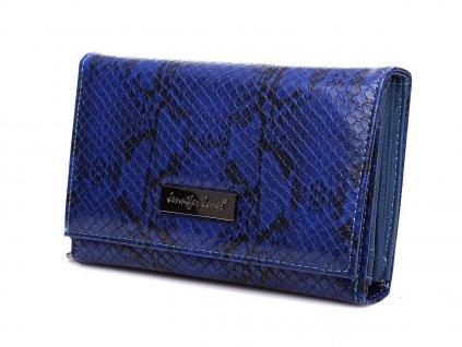 Dámská peněženka hadí kůže Jennifer Jones 1103 6 modrá ModexaStyl (3)