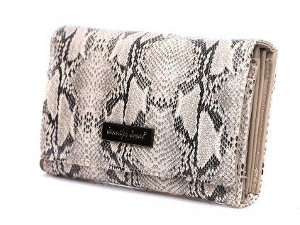 Dámská peněženka hadí kůže Jennifer Jones 1103 6 šedá ModexaStyl (3)