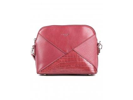Elegantní crossbody kabelka přes rameno David Jones 6406 1 červená ModexaStyl (3)