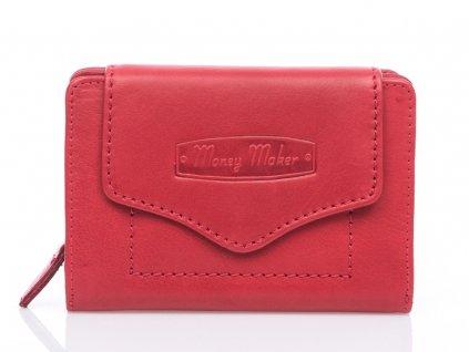 Kvalitní dámská kožená peněženka Money Maker 528B červená ModexaStyl (2)