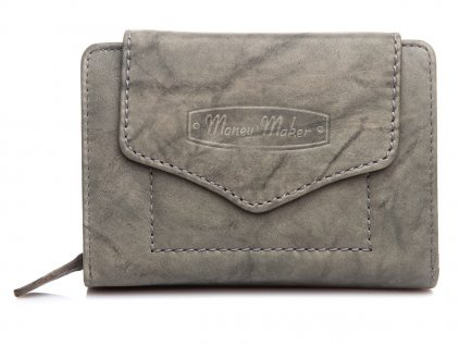 Kvalitní dámská kožená peněženka Money Maker 528B šedá ModexaStyl (2)