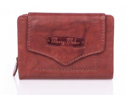 Kvalitní dámská kožená peněženka Money Maker 528B hnědá ModexaStyl (2)