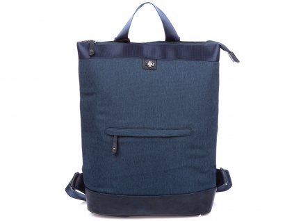 Stylový dámský městský batoh Jennifer Jones 4097 modrý ModexaStyl (4)