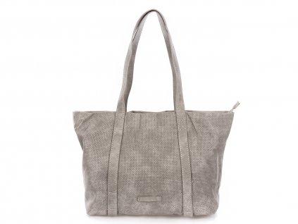 Velká kabelka do ruky a přes rameno Shopper Jennifer Jones 3456 světle šedá ModexaStyl (2)