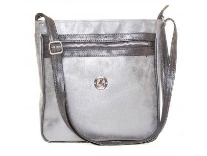 Crossbody kabelka přes rameno LD051S - stříbrná