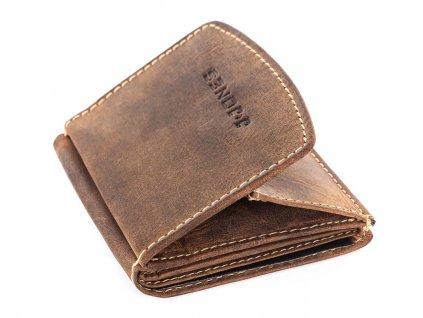Kožená peněženka J Jones hnědá 5492 modexaStyl (1)