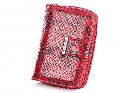 Středně velká dámská peněženka Jennifer Jones 1104 6 hadí kůže červená Modexa (5)