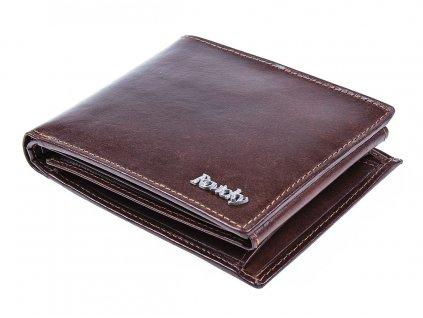 Pánská kožená peněženka hnědá Rovicky N992 VT R8 ModexaStyl RFID Secure (4)