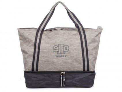 Velká dámská sportovní taška voděodolná Jennifer Jones 4425 šedá ModexaStyl (2)