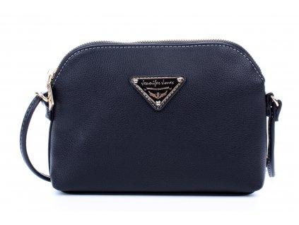 Malá kabelka přes rameno Crossbody černá Jennifer Jones 3820 ModexaStyl (2)