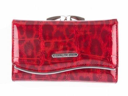 Dámská kožená peněženka červená Jennifer Jones 5245 3 na klip ModexaStyl (2)
