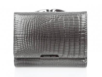 Malá dámská kožená peněženka na klip šedá Jennifer Jones 5243 2 GY ModexaStyl (10)