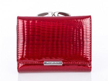 Malá dámská kožená peněženka na klip červená Jennifer Jones 5243 2 RD ModexaStyl (2)