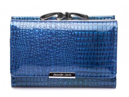 Dámská kožená peněženka na klip modrá Jennifer Jones 5282 2 NY ModexaStyl (2)