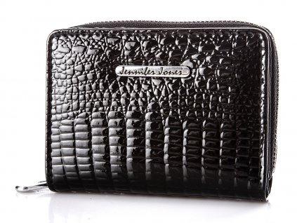 Malá dámská kožená peněženka Jennifer Jones 5248 2 černá ModexaStyl (2)