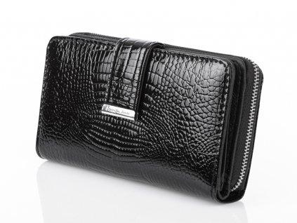 Dámská kožená peněženka lakovaná černá Jennifer Jones 5280 2 BK ModexaStyl (3)