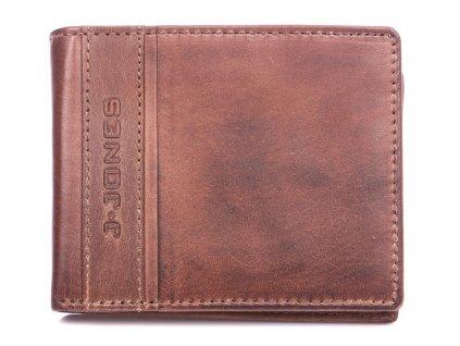 Pánská kožená peněženka hnědá J Jones 5708 ModexaStyl (2)