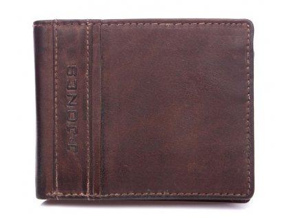 Pánská kožená peněženka hnědá tmavá J Jones 5708 ModexaStyl (2)