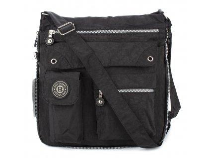 Lehká volnočasová kabelka přes rameno crossbody červená bag Street 2221 ModexaStyl (12)