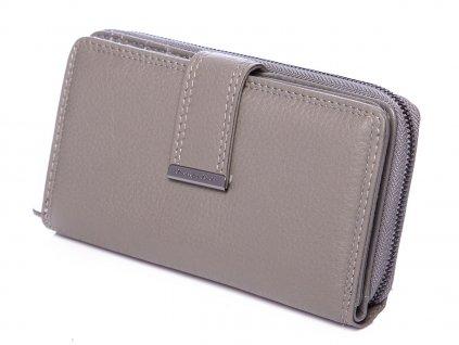 Dámská kožená peněženka šedá Jennifer Jones 5270 ModexaStyl (3)