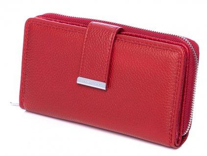 Dámská kožená peněženka červená Jennifer Jones 5270 ModexaStyl (2)