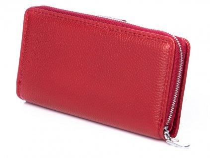 Dámská kožená peněženka červená Jennifer Jones 5270 ModexaStyl (3)