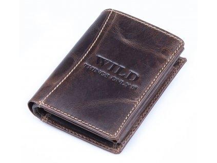 Pánská kožená peněženka Wild hnědá tmavá 5452 ModexaStyl (2)