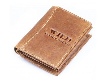 Pánská kožená peněženka Wild koňaková hnědá 5452 ModexaStyl (2)