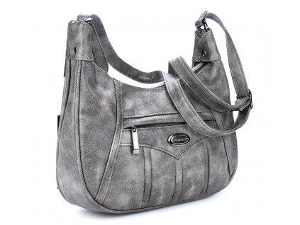 Středně velká kabelka přes rameno šedá Bag Street 3022 ModexaStyl (7)