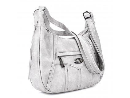Malá kabelka přes rameno světle šedá Bag Street 3022 ModexaStyl (3)
