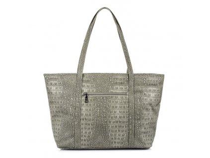 Velká kabelka do ruky a přes rameno Shopper Jennifer Jones šedá 3457 ModexaStyl (2)